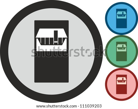 Pack of cigarettes, vector, icon - stock vector