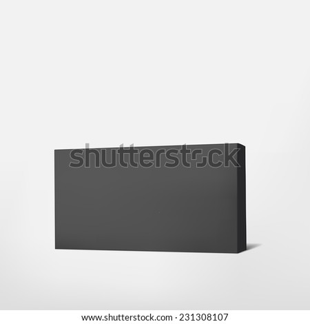 package black cardboard box isolated on white background  - stock vector