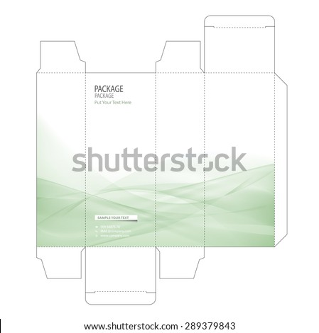 Package box design vector illustration - stock vector