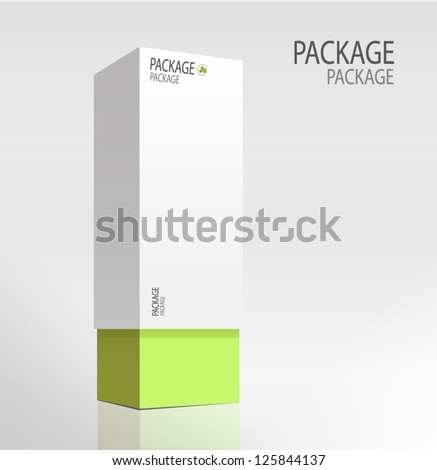 Package white box design 3, vector illustration - stock vector