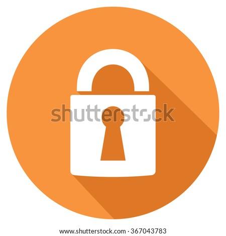 padlock flat icon - stock vector