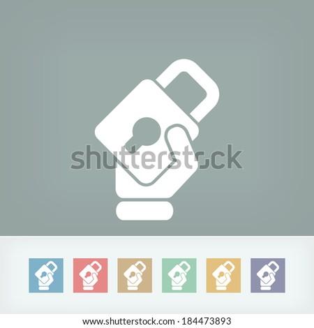 Padlock icon - stock vector