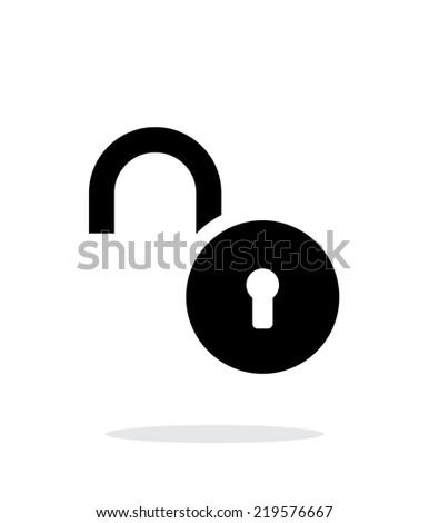 Padlock open icon on white background. Vector illustration. - stock vector
