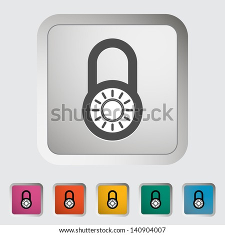Padlock. Single icon. Vector illustration. - stock vector