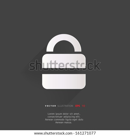 Padlock web icon - stock vector