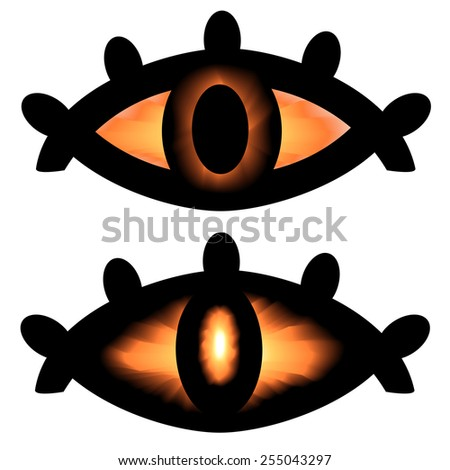 pagan symbol eyes - stock vector