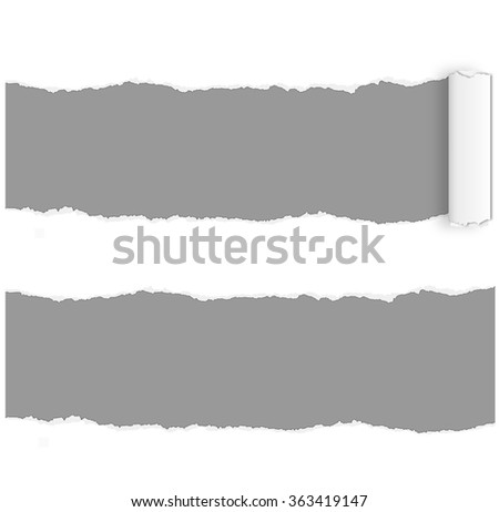 Page curl - ripped page vector - stock vector