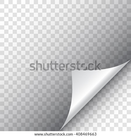 Page curl with shadow - stock vector