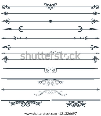 Page decoration set - stock vector