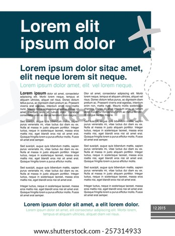 Page layout newsletter for use with business or nonprofit - stock vector