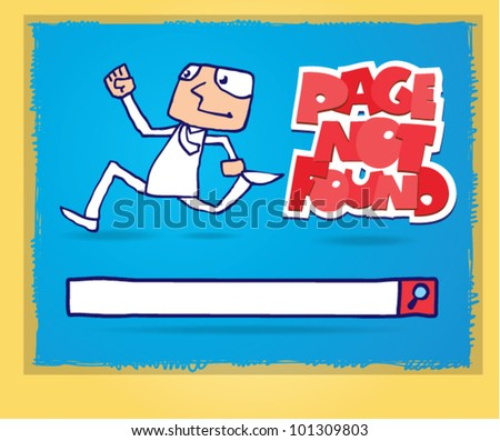 page not found. 404 page - stock vector