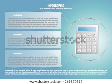 Page 5 of 8 with abstract calculator  for info graphic, presentation, books, documents, web design etc - stock vector