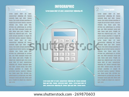 Page 3 of 8 with abstract calculator  for info graphic, presentation, books, documents, web design etc - stock vector