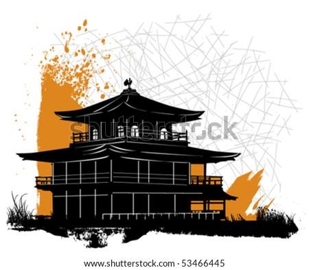 pagoda - stock vector