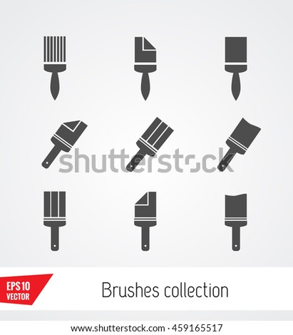 Paint brush - stock vector