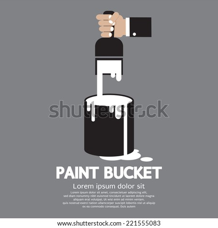 Paint Bucket Silhouette Paint Bucket With Paintbrush