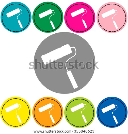 Paint roller icon - stock vector