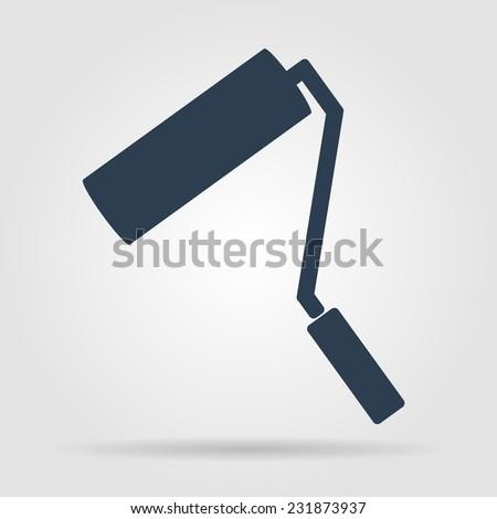 Paint roller icon. Flat vector illustrator Eps  - stock vector