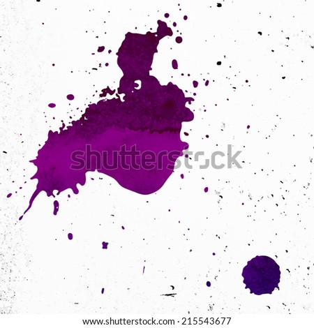 Paint Splash with Grunge Concrete Texture - stock vector
