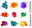 Paint splats - stock vector