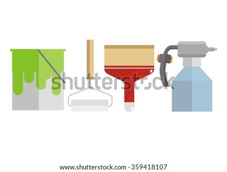 paint tool set - stock vector