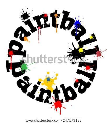Paintball concept vector design  - stock vector