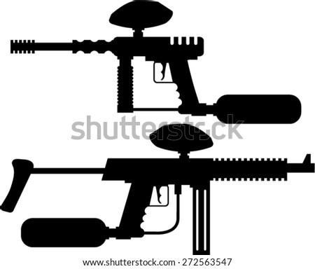 Paintball Gun - stock vector