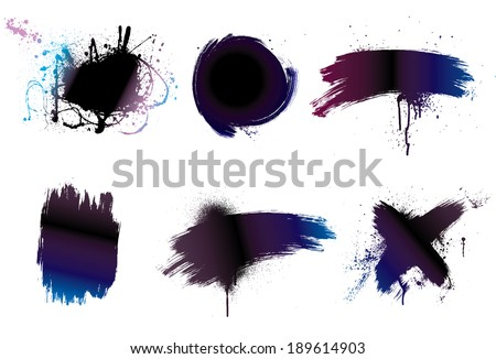 Paintbrush background grunge art paint - stock vector