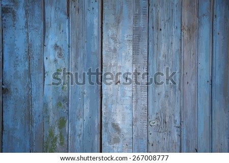 painted wooden background, vector - stock vector