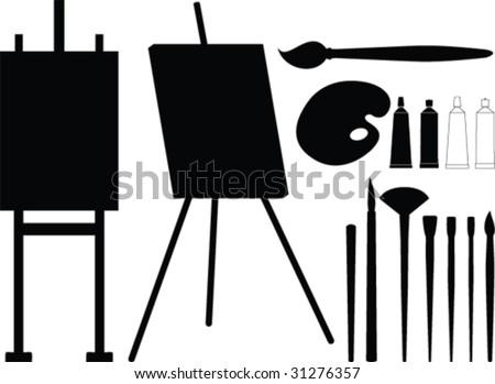 Painter tool vector - stock vector