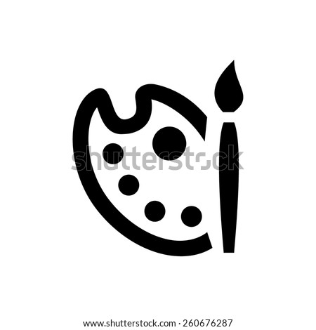 Painting palette icon - stock vector