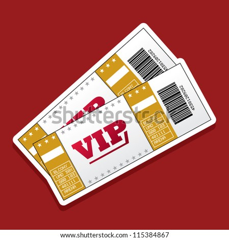 Pair of VIP Tickets - stock vector