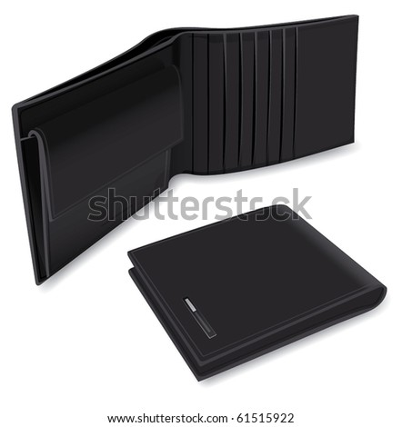 Pair of wallets - stock vector