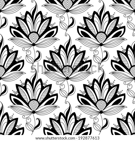 Paisley seamless floral pattern in persian style for textile design - stock vector