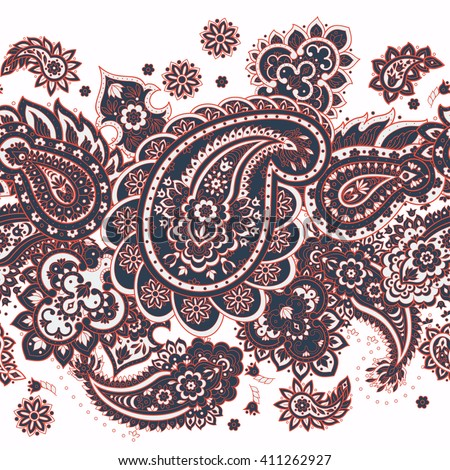Paisley seamless pattern. Vector ethnic ornament - stock vector
