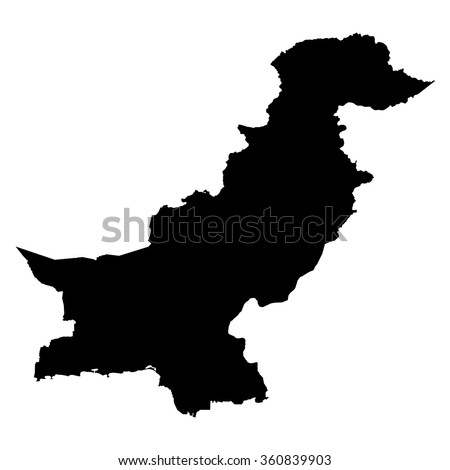 Pakistan map on white background vector - stock vector