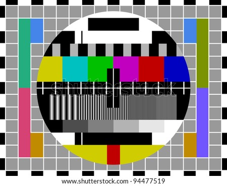 PAL TV test signal - stock vector