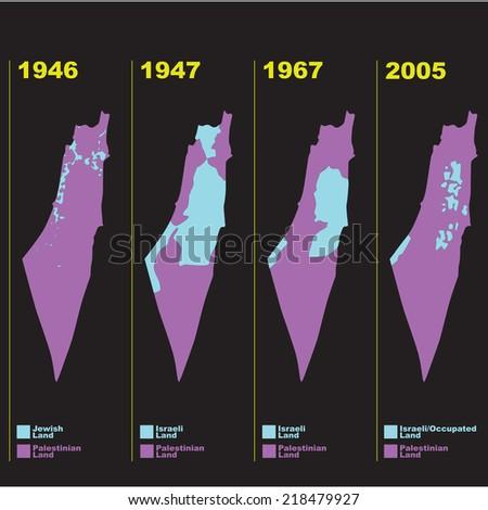 palestine israel - stock vector