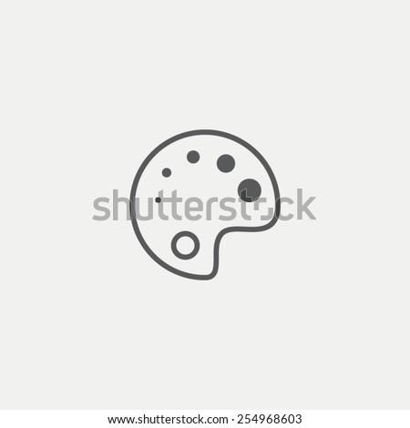 Palette icon - stock vector