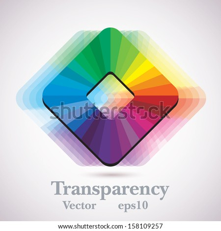 palette icon with transparency shadow - stock vector
