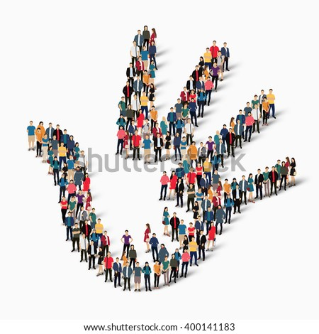 palm hand  people  symbol - stock vector