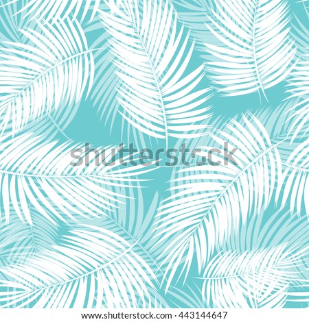 Palm Leaf Vector Seamless Pattern Background Illustration EPS10 - stock vector