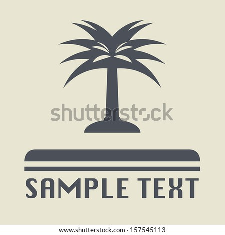 Palm tree icon or sign, vector illustration - stock vector