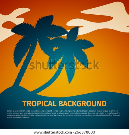 Palm trees on the beach, excellent vector illustration, EPS 10 - stock vector