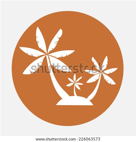 palm trees Vector icon  - stock vector