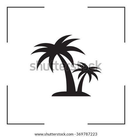 palm tropical tree  icon silhouette vector illustration  - stock vector