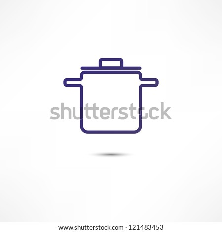 Pan Of Food Icon - stock vector