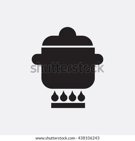 Pan on gas Icon, Pan on gas Icon Eps10, Pan on gas Icon Vector, Pan on gas Icon Eps, Pan on gas Icon Jpg, Pan on gas Icon, Pan on gas Icon Flat, Pan on gas Icon App, Pan on gas Icon Web - stock vector