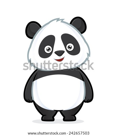 Panda standing - stock vector