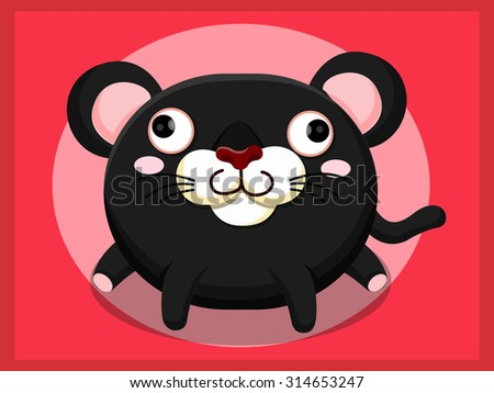 Red Panther Cartoon Panther Cartoon Stock Vector